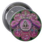 Goddess Tara Mandala 3 Inch Round Button
