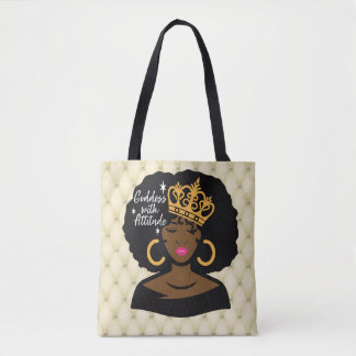 Goddess With Attitude Tote Bag