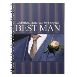 Godfather best man thank you note books