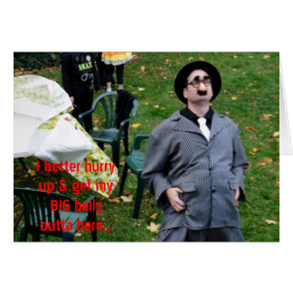 Godfather Big Belly on the Run Halloween Humour Card