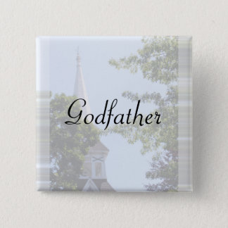 Godfather Button/pin 2 Inch Square Button