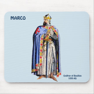 Godfrey Bouillon Costume~Personalised for MARCO ~ Mouse Pad