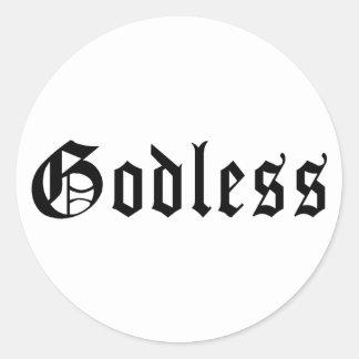 Godless 1 round sticker