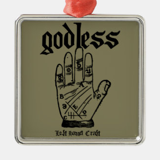 Godless Atheist Metal Ornament