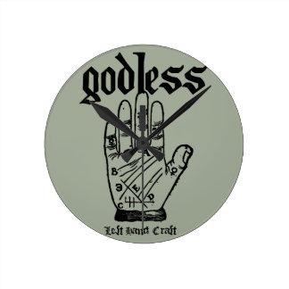 Godless Atheist Round Clock