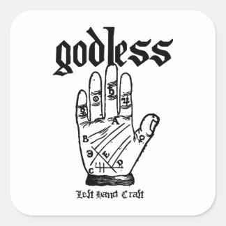 Godless Atheist Square Sticker