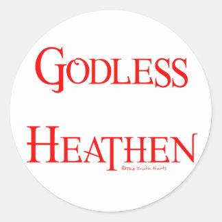 Godless Heathen Round Sticker