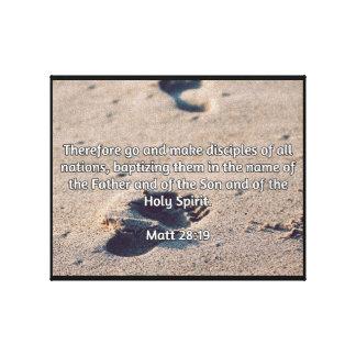 """Godly Quotes: Matt 28:19 -- """"Make Disciples"""" Canvas Print"""
