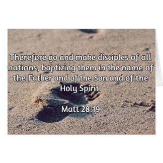 """Godly Quotes: Matt 28:19 -- """"Make Disciples"""" Greeting Card"""