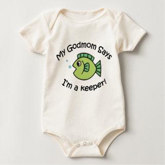 GodMom Says I'm  a Keeper! Baby Bodysuit