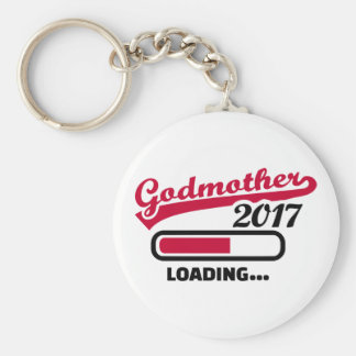Godmother 2017 basic round button keychain