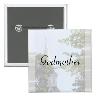 Godmother Button/pin 2 Inch Square Button