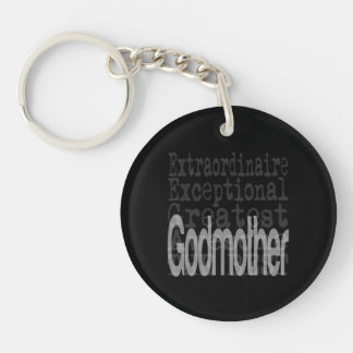Godmother Extraordinaire Double-Sided Round Acrylic Keychain
