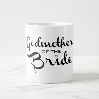 Godmother of Bride Mug Black On White Jumbo Mug