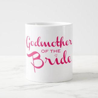 Godmother of Bride Mug Pink On White Jumbo Mug