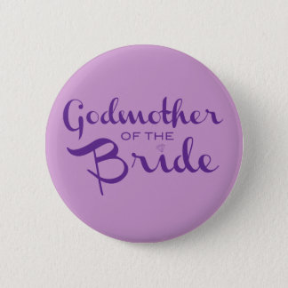 Godmother of Bride Purple on Purple 2 Inch Round Button