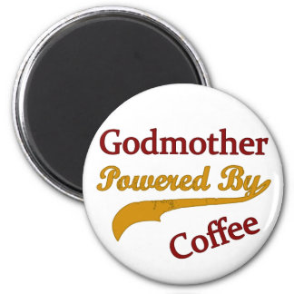 Godmother Powered By Coffee 2 Inch Round Magnet