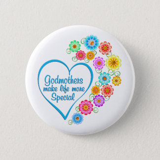 Godmother Special Heart 2 Inch Round Button