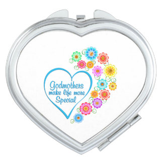 Godmother Special Heart Makeup Mirrors