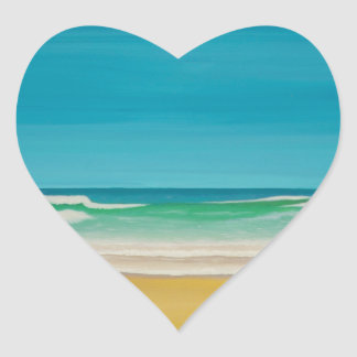 Godrevy Lighthouse (Gwithian) Heart Sticker