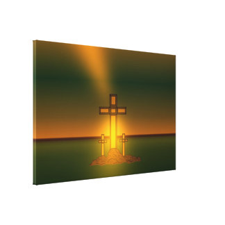 God's Aura Light over the Cross of Christ Canvas Print