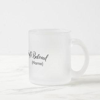 God's Beloved Custom 10 Oz Frosted Glass Coffee Mug