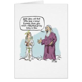 God's Big Bang greeting card