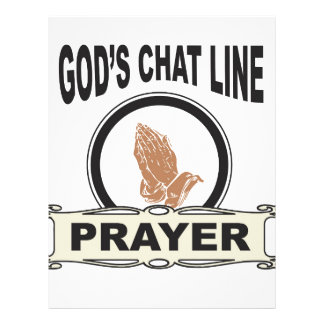 gods chat line prayer letterhead