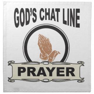 gods chat line prayer napkin