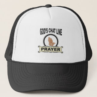 gods chat line prayer trucker hat