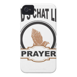 gods chat prayer iPhone 4 Case-Mate case