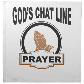 gods chat prayer napkin