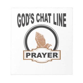 gods chat prayer notepad
