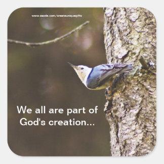 God's Creation Bird Sticker