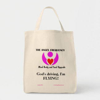 God's driving, I'm FLYING Grocery Tote Bag