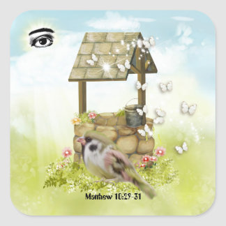 God's Eye is on the Sparrow Stickers