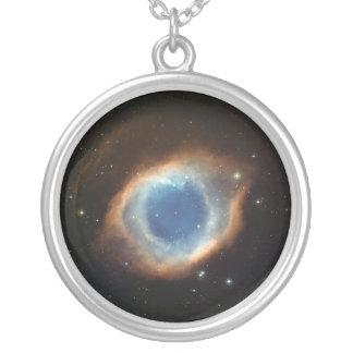 Gods' Eye Nebula Silver Plated Necklace