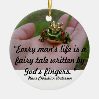God's fairy tale ceramic ornament
