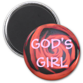 God's Girl Red Rose Magnet