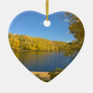God's Golden Touch Ceramic Heart Ornament