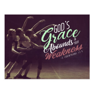 God's grace abounds in your weaknesses postcard