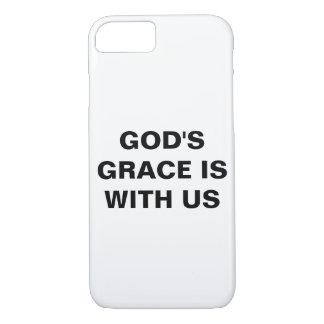 """""""God's Grace Is With Us"""" Apple iPhone 8/7 Case"""