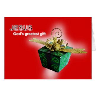 God's greatest gift card