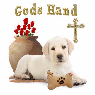Gods hand puppy photo sculpture keychain