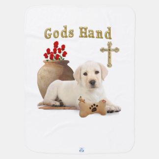Gods hand puppy swaddle blanket