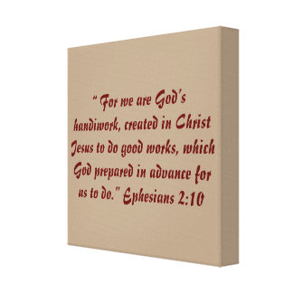 """God's Handiwork"" 12 x 12 Scripture Wrapped Canvas"