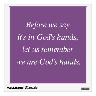 God's Hands Wall Decal
