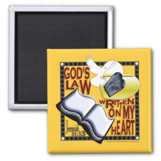 God's Law Written on My Heart - Magnet