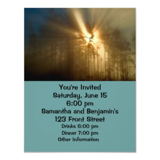 "Gods Light 4.25"" X 5.5"" Invitation Card"