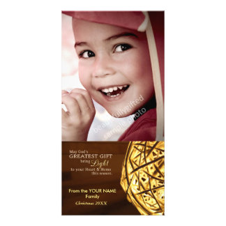 Gods Light Religious Christian Christmas Photocard Custom Photo Card